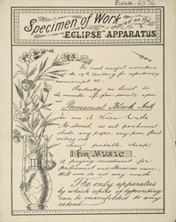 Advert for the Eclipse Duplicating Machine